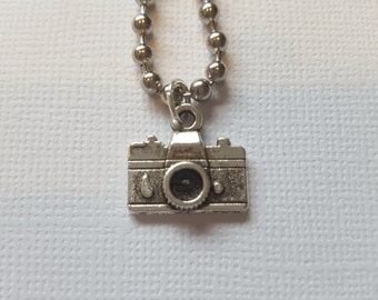 Vintage camera charm necklace - great gift for a photographer!