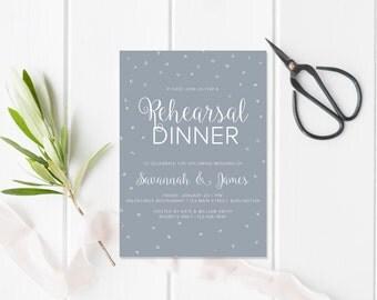 Printable Rehearsal Dinner Invitation, Wedding Rehearsal Invitation, Wedding Rehearsal