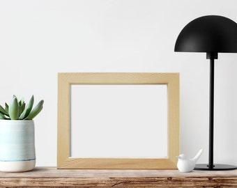"""6x8x1"""" Unfinished Wood Frames, Glass and Backing, Picture Frames, Art Frames, Craft Frames, DIY Frame, Unpainted frames, Desktop Frames"""