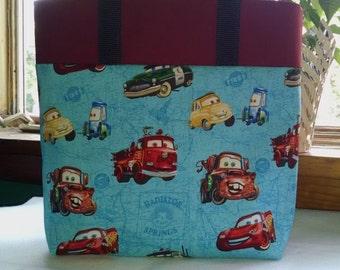 Childrens Library Tote Cars Tote Bag Disney Cars Book Bag