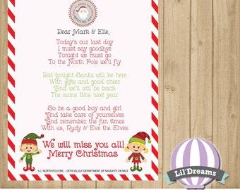 Elf letter Etsy