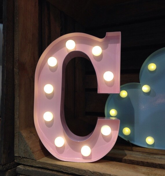 marquee light up letters vintage carnival style marquee light light up letter c 23581 | il 570xN.982532092 53ed
