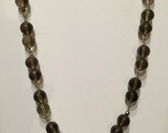 Faceted Smokey Quartz Necklace