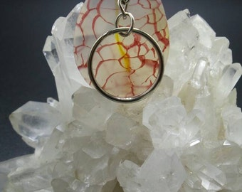 Dragon Veins Agate Teardrop Key Chain.