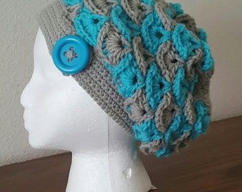 Shelby's Slouchy Beanie Crochet Pattern - PDF FILE DOWNLOAD - Instant Download