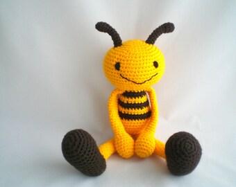 Crochet Bumble Bee / Amigurumi Bumble Bee / Crochet Amigurumi Soft Toy / Crochet Bumble Bee Soft Toy / Plush Soft Toy.