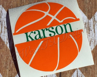 Basketball Decal | Basketball Sticker | Personalized Basketball Decal | Vinyl Decal | Basketball Car Decal | Sports Decal