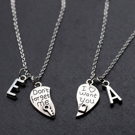his and her necklace boyfriend girlfriend valentines day, Ideas