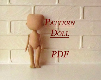 Lerika Doll - Pattern Doll Body - PDF - Sewing Pattern - Rag Doll Pattern pdf - Blank Rag Doll - PDF Doll Body - Doll Form