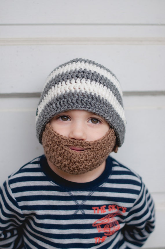Crochet Beard Hat With Stripes And By Theresascrochetshop