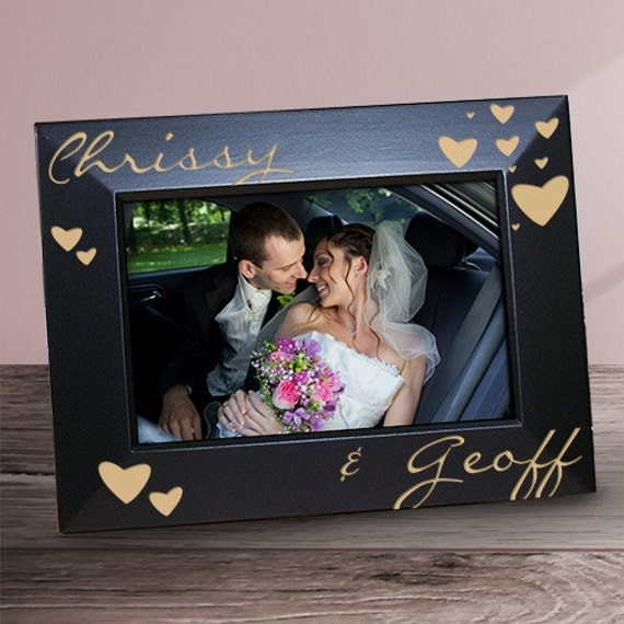 Just The Two Of Us Engraved Black Frame Couples Engraved