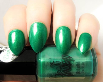 Destructo - Vibrant Shimmery Green Nail Polish