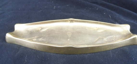 Antique Brass Cigar Ashtray-Solid Brass Boat Shaped Ashtray