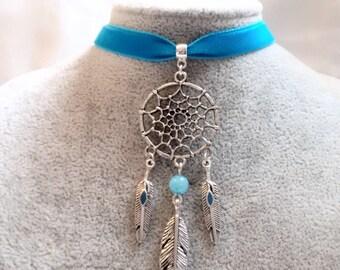 Dream Catcher Necklace  - Dream Catcher Choker - Dreamcatcher Choker - Boho Choker - Native Indian Choker - Ojibwe Asibikaashi