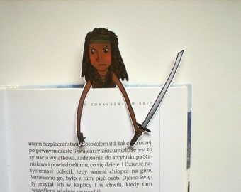 Michonne The walking dead bookmark