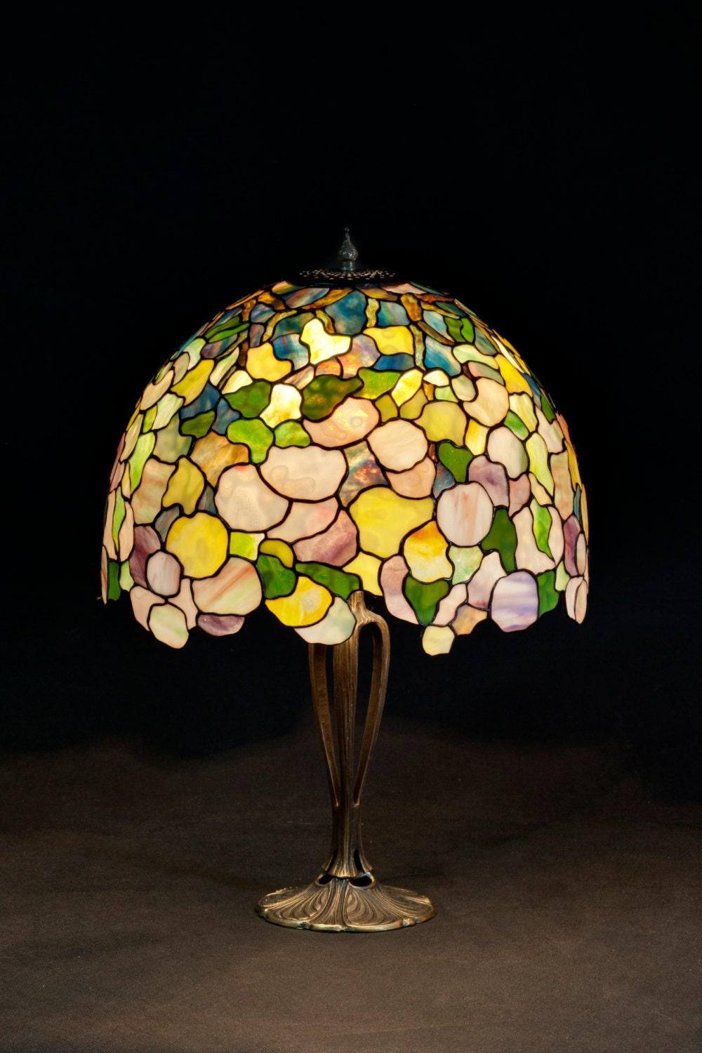 Office lamp table lamp stained glass shade bedside lamp for Glass bedside lamp shades