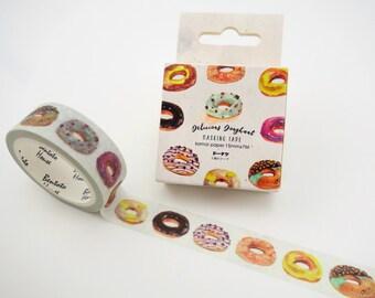 Japanese doughnut washi tape - Japanese washi tape - donut washi tape - donut masking tape - sweets washi tape - dessert washi tape - kawaii
