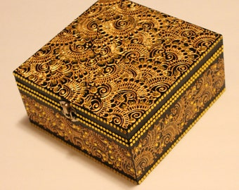 Gold and Black Jewelry Box