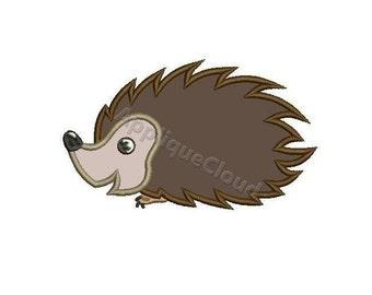Headgehog applique design ~ Headgehog  applique embroidery pattern ~ INSTANT DOWNLOAD digital file