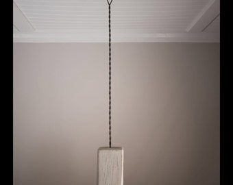 The Trolley rustic pendant with pulley and Edison bulbs