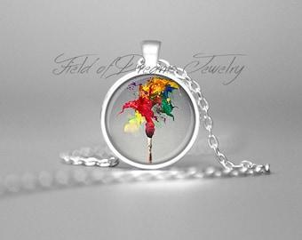 ARTIST PAINTBRUSH PENDANT Gifts for Artists Art Teacher Gifts Artist Palette Artist Necklace Gift Artist Jewelry Paintbrush Necklace Teacher