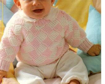 baby diamond sweater dk knitting pattern 99p pdf