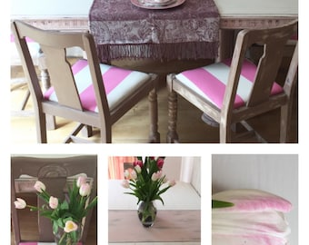 SOLD* Antoinette & Coco Vintage ShabbyChic Dining Table and Chairs