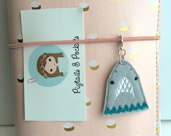 Felt Shark Traveler's Notebook Charm, Cute Sea Animal TN Dori Accessory