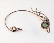 Fairy ear cuffs * Statement ear cuff * Ear cuff no piercing * Bohemian jewelry * Fake ear cuff * Ear wrap * Trable jewelry * Hippie style