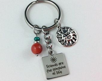 Keychain Friendship Gift, Friendship Keychain, Friend Keychain, Best Friend Keychain, Gift For Friend, Friendship Keepsake, Best Friend Gift
