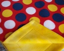 Polka Dot Blanket, Fleece Blanket, Spotted Blanket, Red Blanket, Tie Dye Blanket, Kid Blanket, Toddler Blanket, Christmas Gift, Kids Bedding