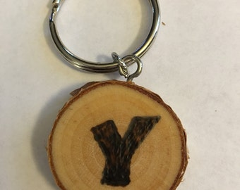 Keychain, Wood Burned Keychain, purse charm, pendant, wood burned, personalized, pyrography, gifts under 10