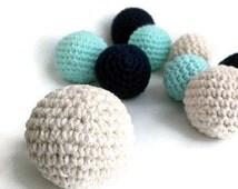 9 Crochet Multi-size Balls - Nursery Party Wedding Home Decor, Plush Stuffed Amigurumi Balls, Kids Children Pet Chew Toys, Loose 3D Balls