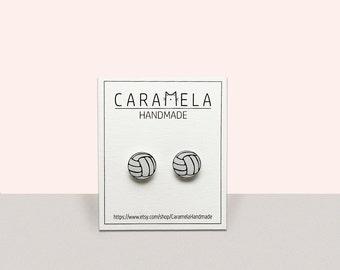 volleyball Stud Earrings Sport Ball post earrings volleyball Earrings Jewelry Gift Idea