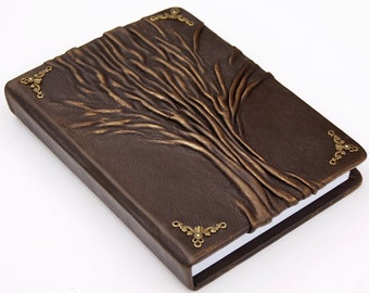 Personalized Leather journal, Bullet Journal,travel journal, travel notebook, leather diary sketchbook, tree of life