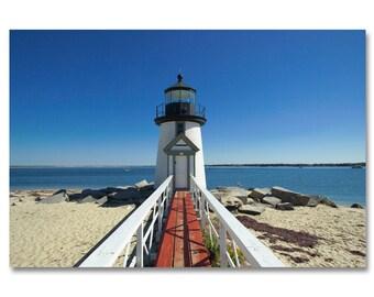 Nantucket lighthouse photo / Nantucket photo / east coast beach photo /summer beach art / nantucket island print / lighthouse photo