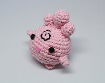 Igglybuff Amigurumi inspired by Pokémon made to order
