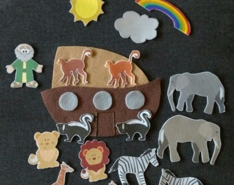 Noah's Ark-Bible Story Felt Board Set// Flannel Board Story Set // Preschool // Teacher Story // Sunday School // Kids //