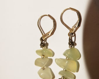 "Free Shipping Vintage Genuine stone 1.5"" Earrings."