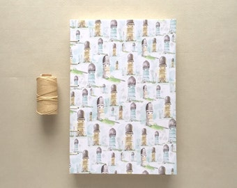 """6"""" x 8.5"""" Ypsilanti Water Tower Journal - Handstitched with Lined Pages"""