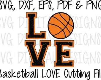 Basketball SVG, Basketball Love Cut File Design, Sports Digital Cutting file great for Silhouette & Cricut Svg Dxf Eps CUTTABLE DESIGN