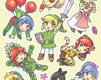 Triforce Heroes stickers