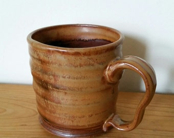 Pottery Coffee Mug by Fire Garden Pottery. 12oz. Hot Cocoa Mug. In stock, ready to ship.