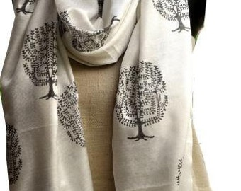 Block printed scarf