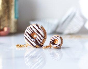 Donut Charm with Chocolate + Vanilla Icing