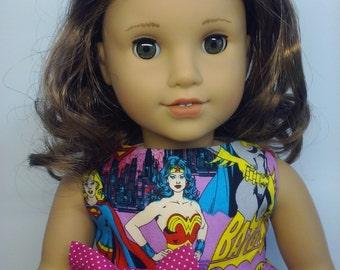 18 Inch Doll Dress - Fit American Girl Doll - Wonder Woman - Batgirl - Super Girl