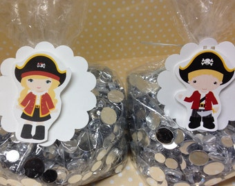 Pirate Party Candy or Favor Bags with Tags