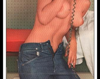 "Mature Playboy April 1962 : Playmate Centerfold Roberta Lane 3 Page Spread Photo Wall Art Decor 11"" x 23"""