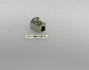 Sterling Silver Dog Kennel Charm