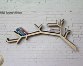 Modern library wood scale 1:12 for doll houses (Cod.L009)